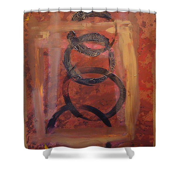 Rings - Circles Of Life Shower Curtain