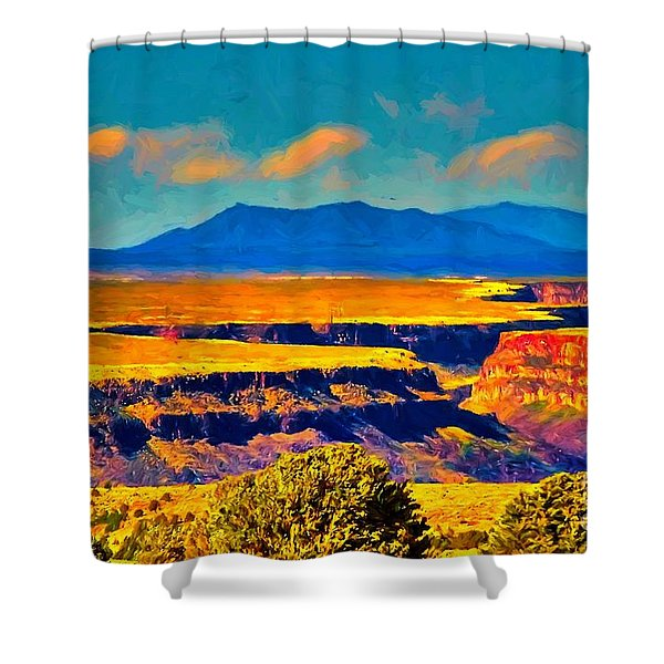 Rio Grande Gorge Lv Shower Curtain