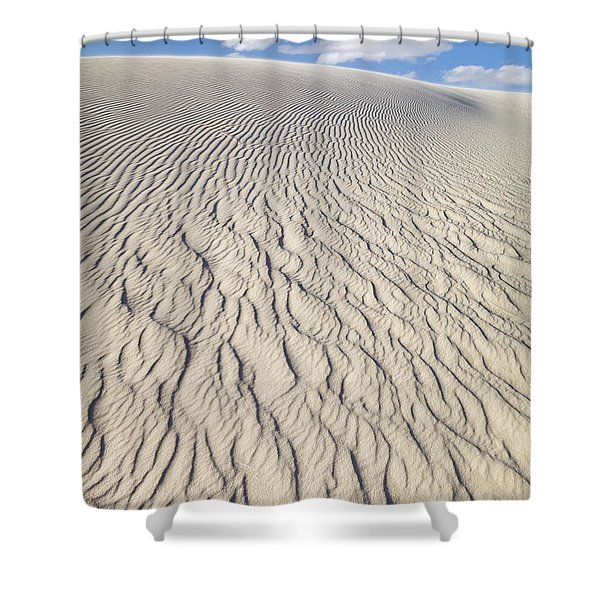Rippled Dunes In White Sands Shower Curtain