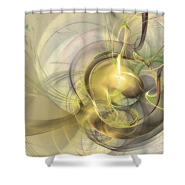 Rising - Abstract Art Shower Curtain