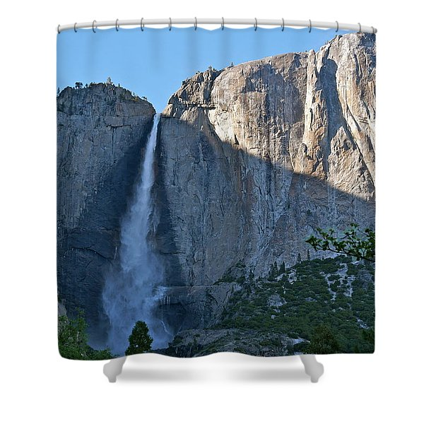 Rising Sun At Upper Yosemite Falls Shower Curtain