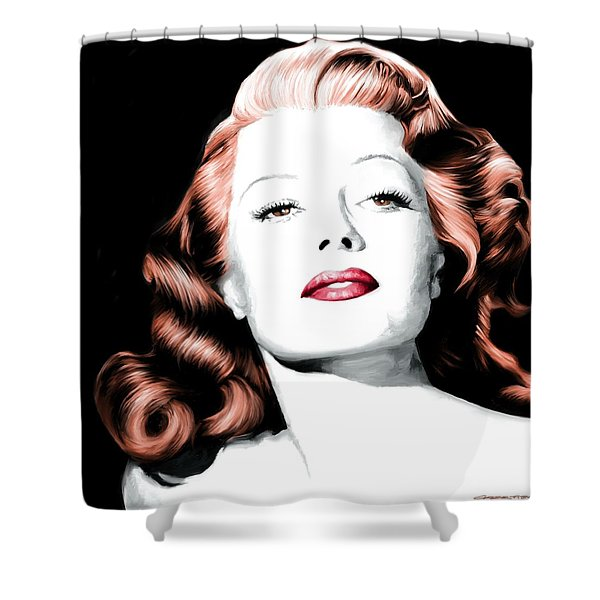 Rita Hayworth Large Size Portrait Shower Curtain