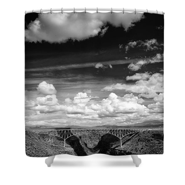 River And Clouds Rio Grande Gorge - Taos New Mexico Shower Curtain