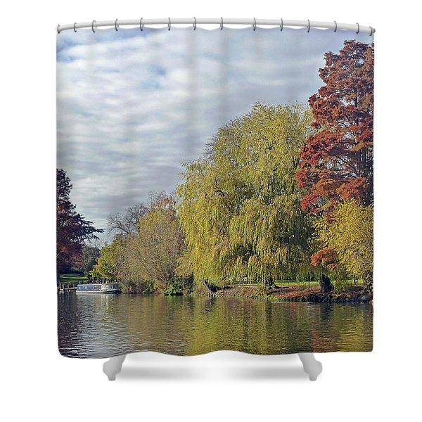 River Avon In Autumn Shower Curtain