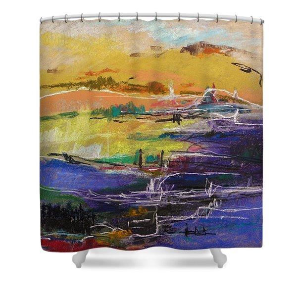 River Bank II Shower Curtain