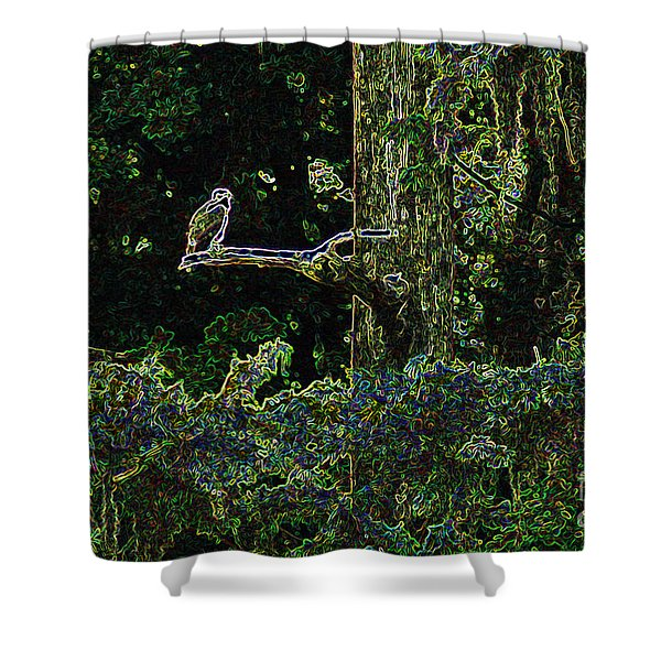 River Bird Of Prey Shower Curtain