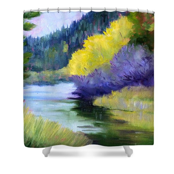 River Color Shower Curtain