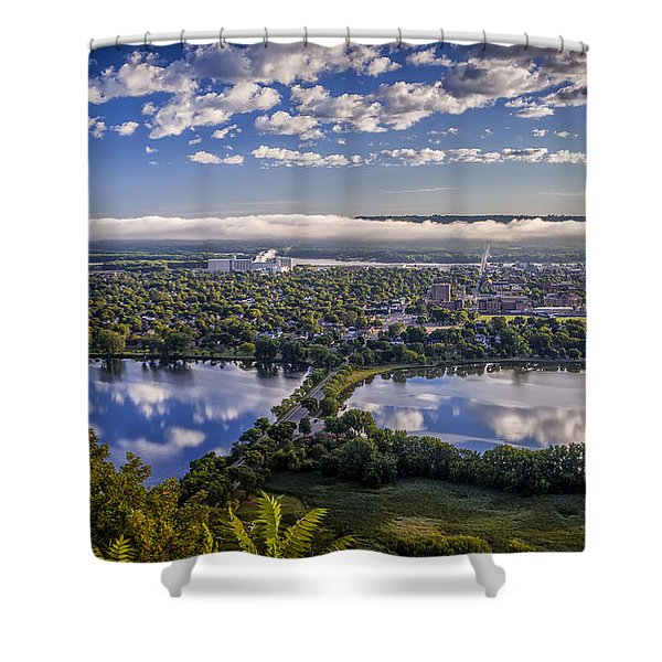 River Fog At Winona Shower Curtain
