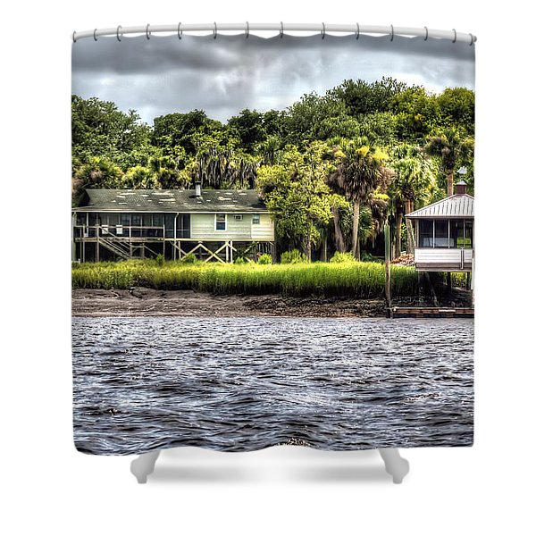 River House On Wimbee Creek Shower Curtain