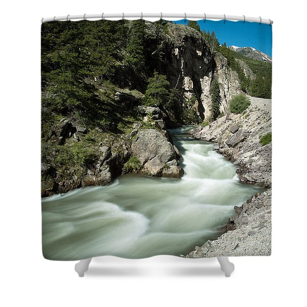River In Colorado Shower Curtain