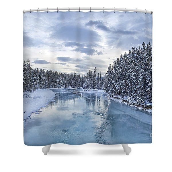 River Of Ice Shower Curtain