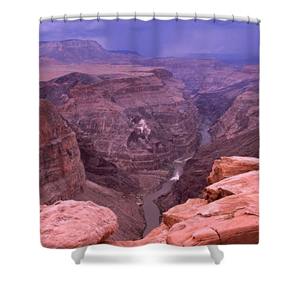 River Passing Through A Canyon Shower Curtain