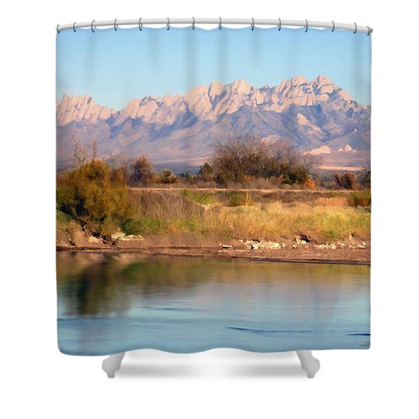 River View Mesilla Panorama Shower Curtain