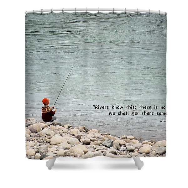 Rivers Know This Shower Curtain