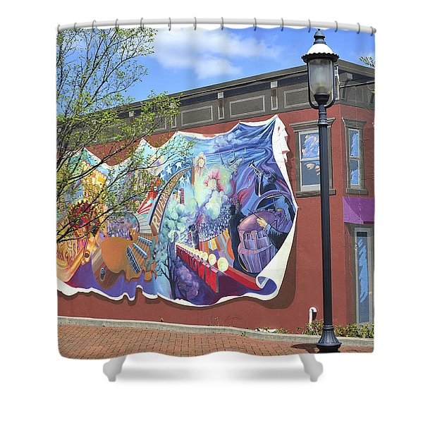 Riverside Gardens Park In Red Bank Nj Shower Curtain