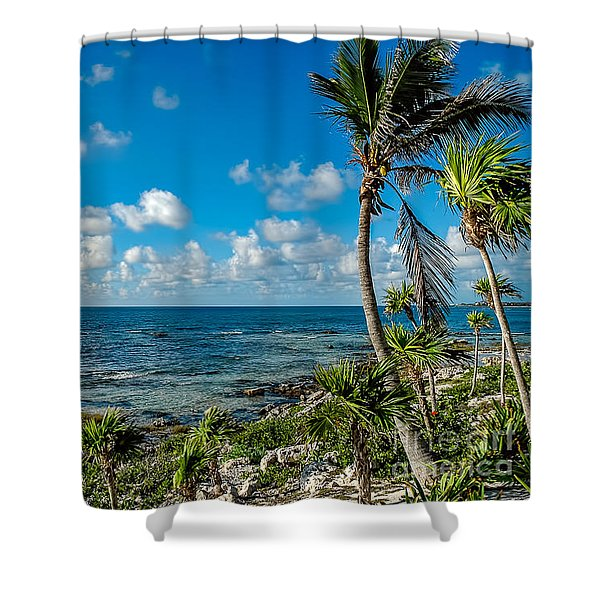 Cave Diving Country Shower Curtain
