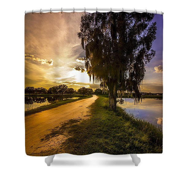 Road Into The Light Shower Curtain