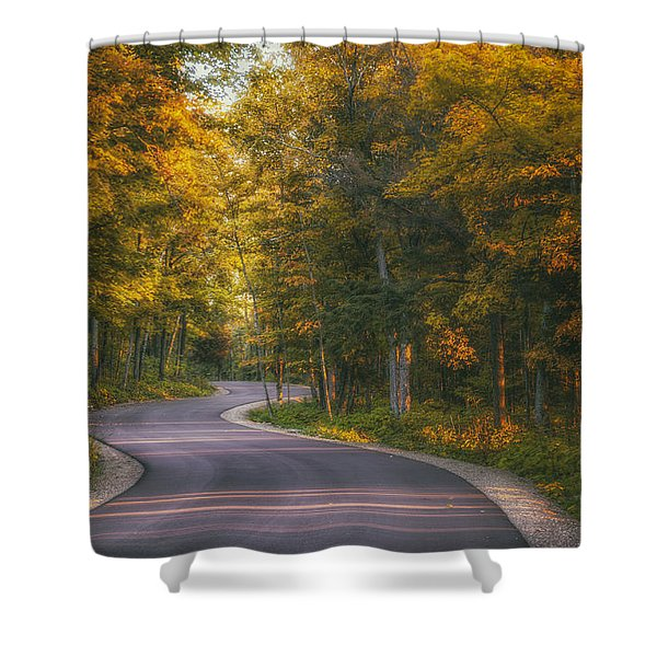 Road To Cave Point Shower Curtain