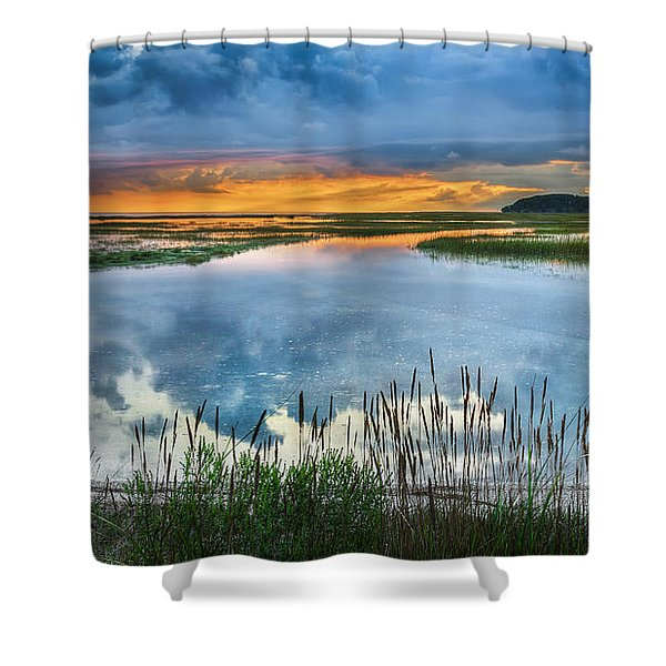 Road To Lieutenant Island Shower Curtain