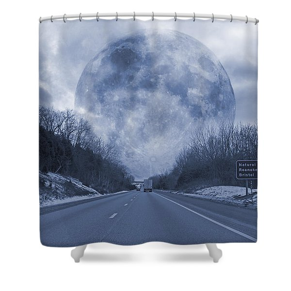 Road To The Horizon Shower Curtain