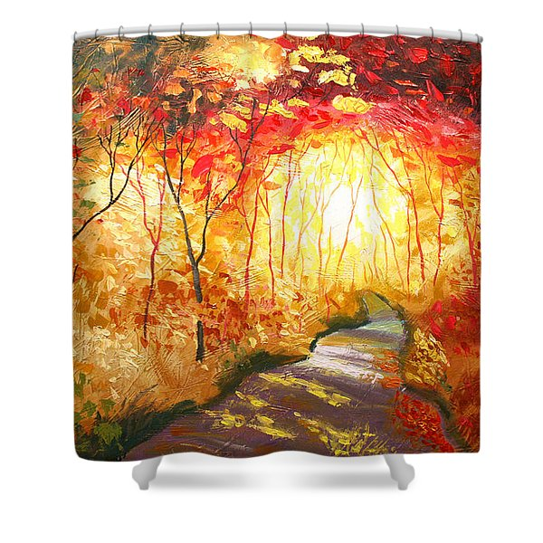 Road To The Sun Shower Curtain