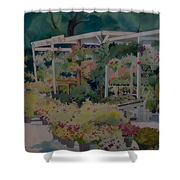 Roadside Stand Shower Curtain
