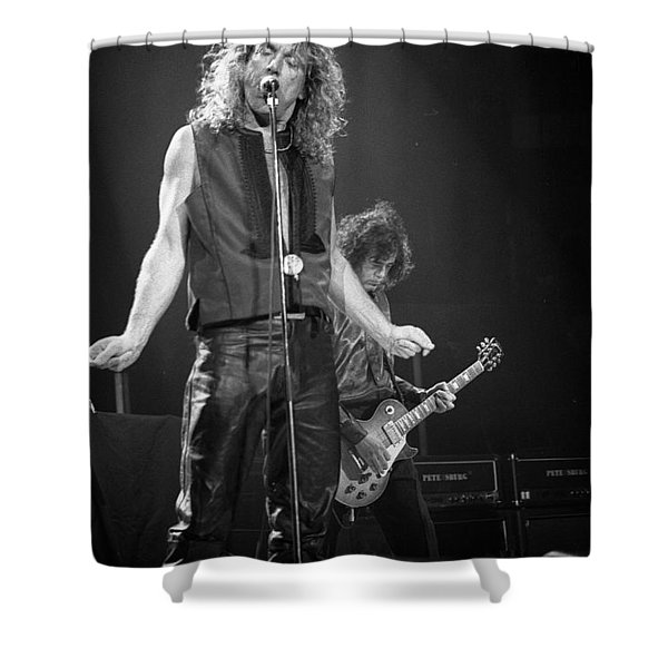 Robert Plant And Jimmy Page Shower Curtain