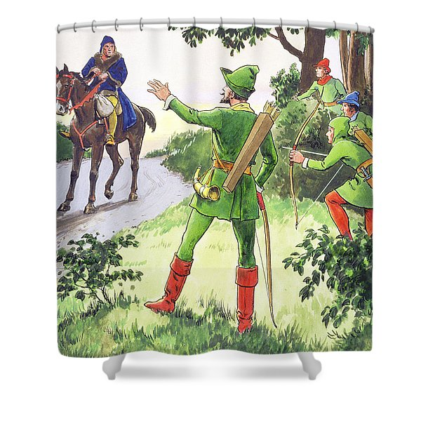 Robin Hood, From Peeps Into The Past Shower Curtain