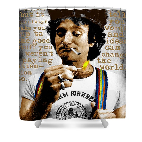 Robin Williams And Quotes 2 Shower Curtain