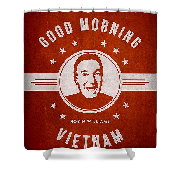 Robin Williams - Red Shower Curtain