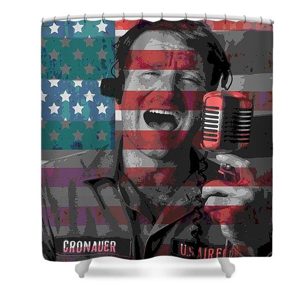 Robin Williams Tribute Good Morning Vietnam Shower Curtain