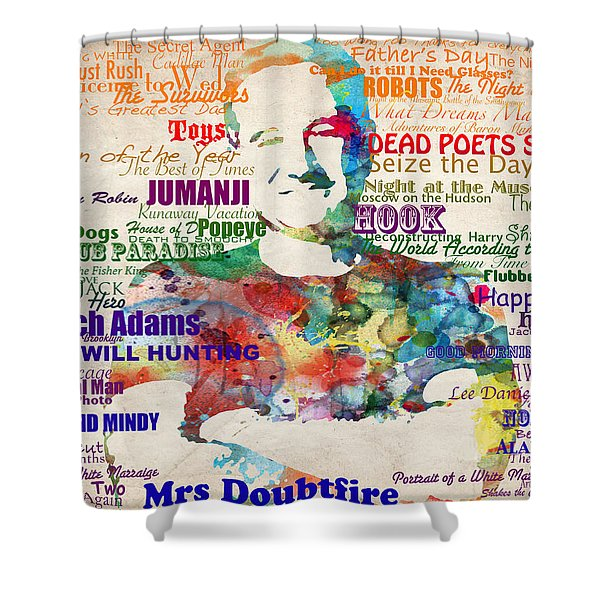 Robin Williams Tribute Shower Curtain