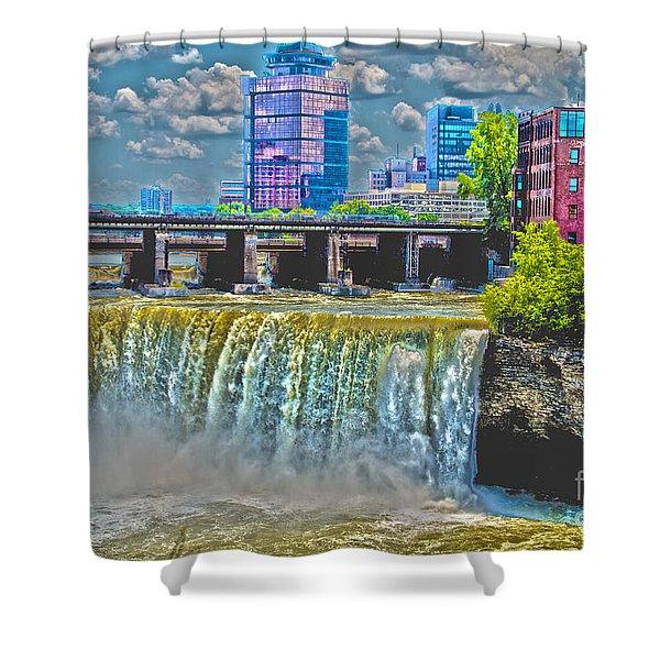Rochester High Falls Shower Curtain