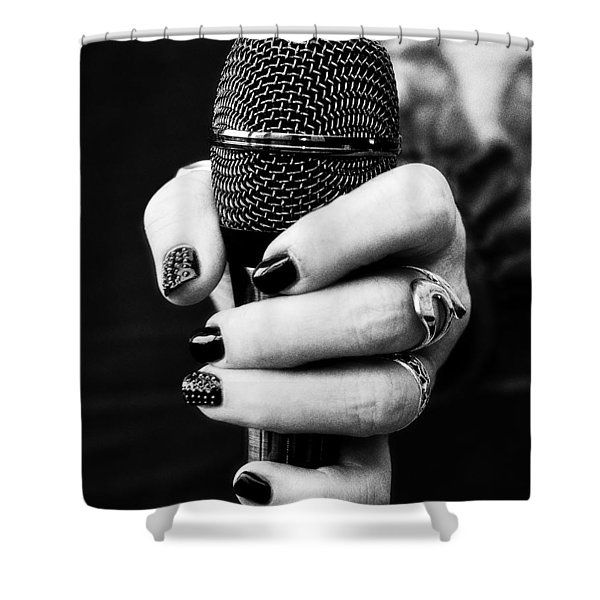 Rock And Metal Shower Curtain