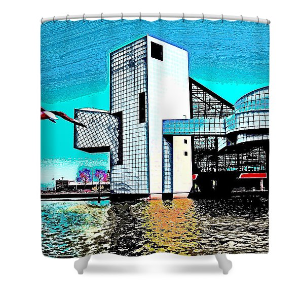 Rock And Roll Hall Of Fame - Cleveland Ohio - 4 Shower Curtain