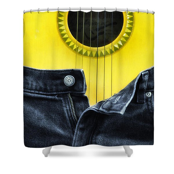 Rock And Roll Woman Shower Curtain