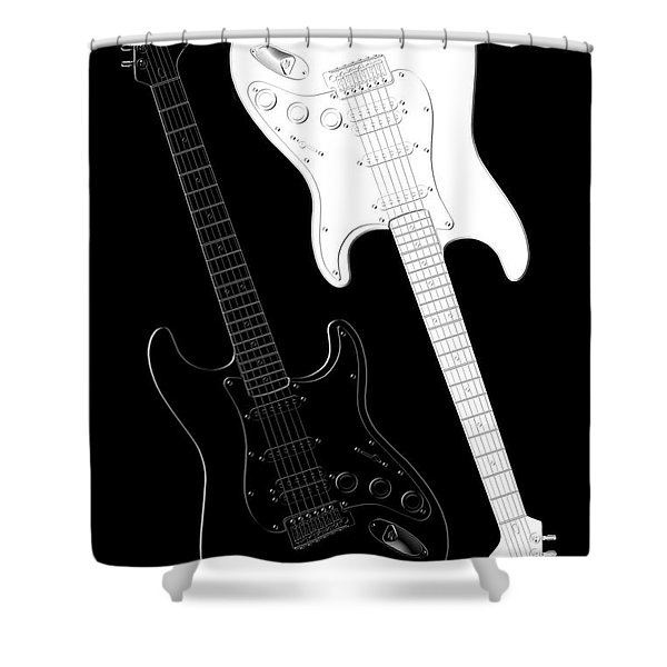 Rock And Roll Yin Yang Shower Curtain