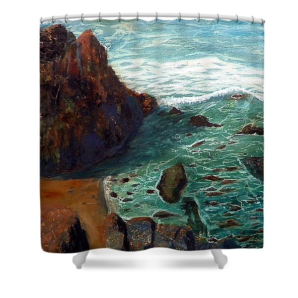 Rock Beach And Sea Shower Curtain