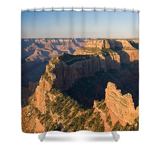 Rock Formations At A Canyon, North Rim Shower Curtain