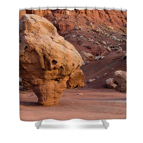 Rock Formations In A Desert, Vermilion Shower Curtain