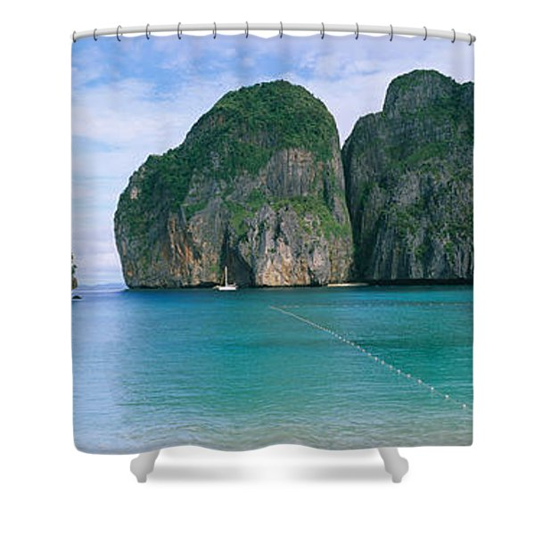 Rock Formations In The Ocean, Mahya Shower Curtain