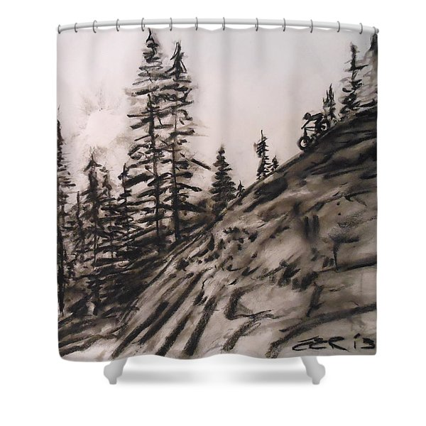 Rock Rider Shower Curtain