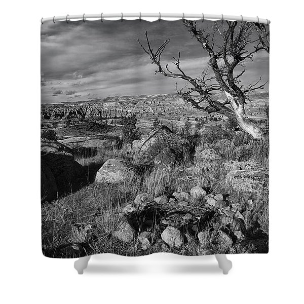 Rock Ring In Wind River Country Shower Curtain