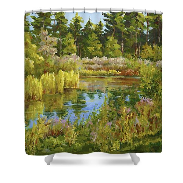 Rock Valley Pond Rockford Il Shower Curtain
