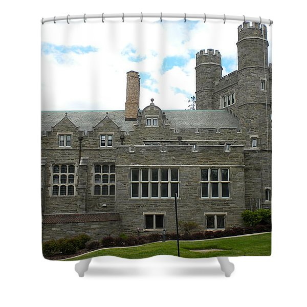 Rockefeller Hall Bryn Mawr Shower Curtain