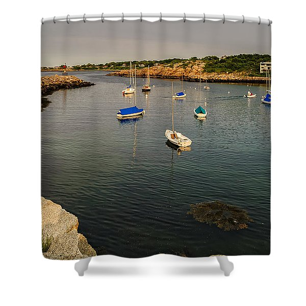 Rockport Gold Shower Curtain