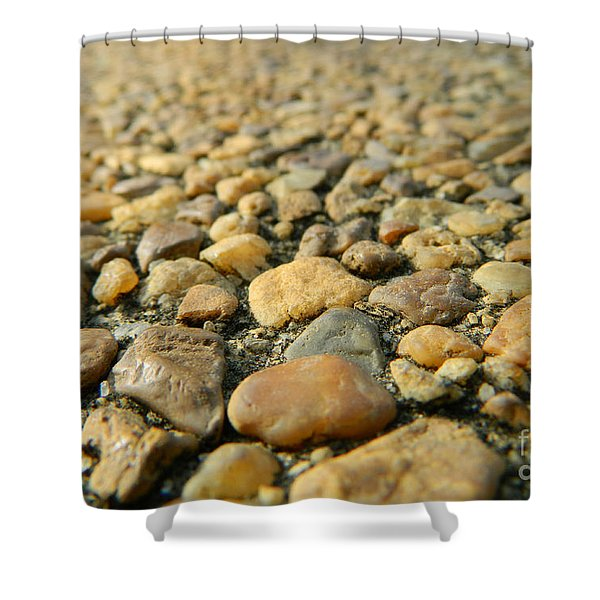 Rocks On My Path Shower Curtain