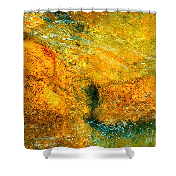 Rocks Under The Stream By Christopher Shellhammer Shower Curtain