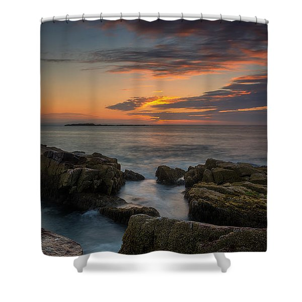 Rocky Coast Of Maine Wide Crop Shower Curtain