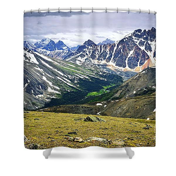 Rocky Mountains in Jasper National Park Shower Curtain by Elena Elisseeva